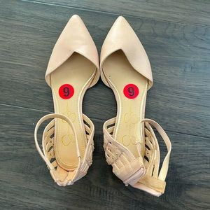 Jessica Simpson Flats Ankle Straps and Zip…